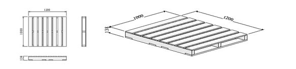 06.-Two-way-entry-non-reversible-pallet-with-filleted-base