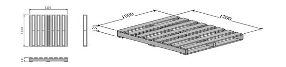 Two-way-entry-non-reversible-pallet