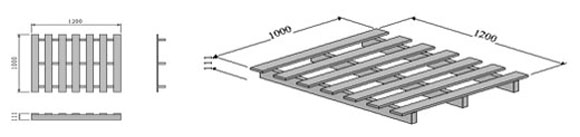 Two-way-entry-single-sided-pallet